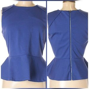 W 118 by Walter Baker Peplum Top Size Medium